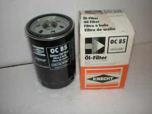 knecht oc 85 oil filter spin on mercedes vw porsche bmw audi lotus amc ebay. Black Bedroom Furniture Sets. Home Design Ideas