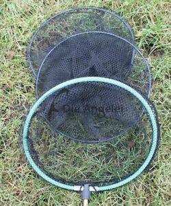 Kleiner Setzkescher mit Erdspieß, ideal für Köderfische, mit Kunststoffnetz