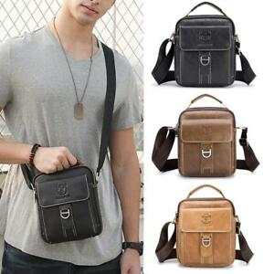Men/'s Crossbody Bag Multifunction Casual Genuine Leather Shoulder Messenger Bags