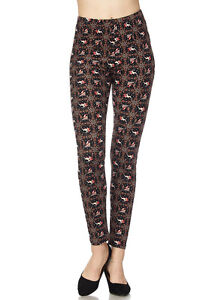 image is loading plus size buttery soft always brushed christmas leggings - Plus Size Christmas Leggings