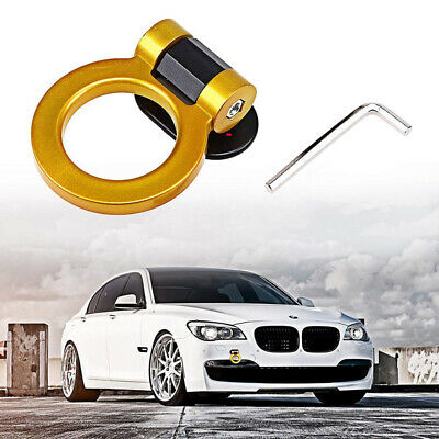 Black Rear Tow Towing Hook for Universal Car Auto Trailer Round Ring Towing Bars Trailer Hook Decoration