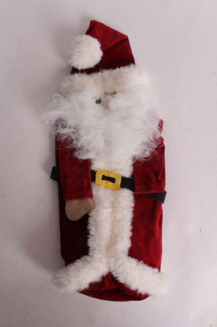 New Pottery Barn Santa wine bag Christmas gift *beard has ...