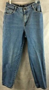 Gitano-Blue-Denim-High-Waist-Mom-Jeans-Straight-Leg-Size-14-Cotton-Inseam-29