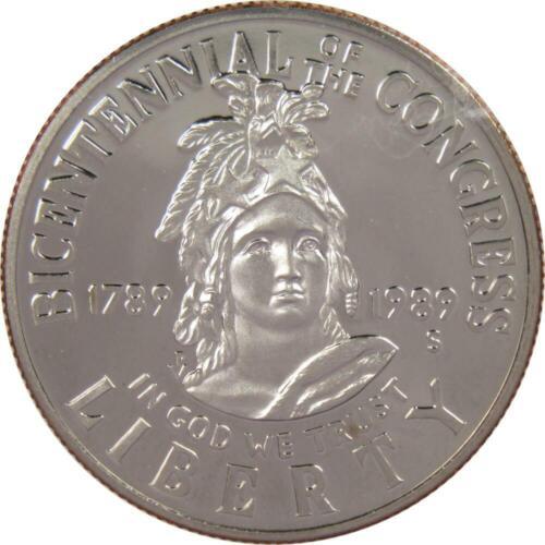 1989 S 50c Congress Bicentennial Commemorative Half Dollar US Coin Choice Proof