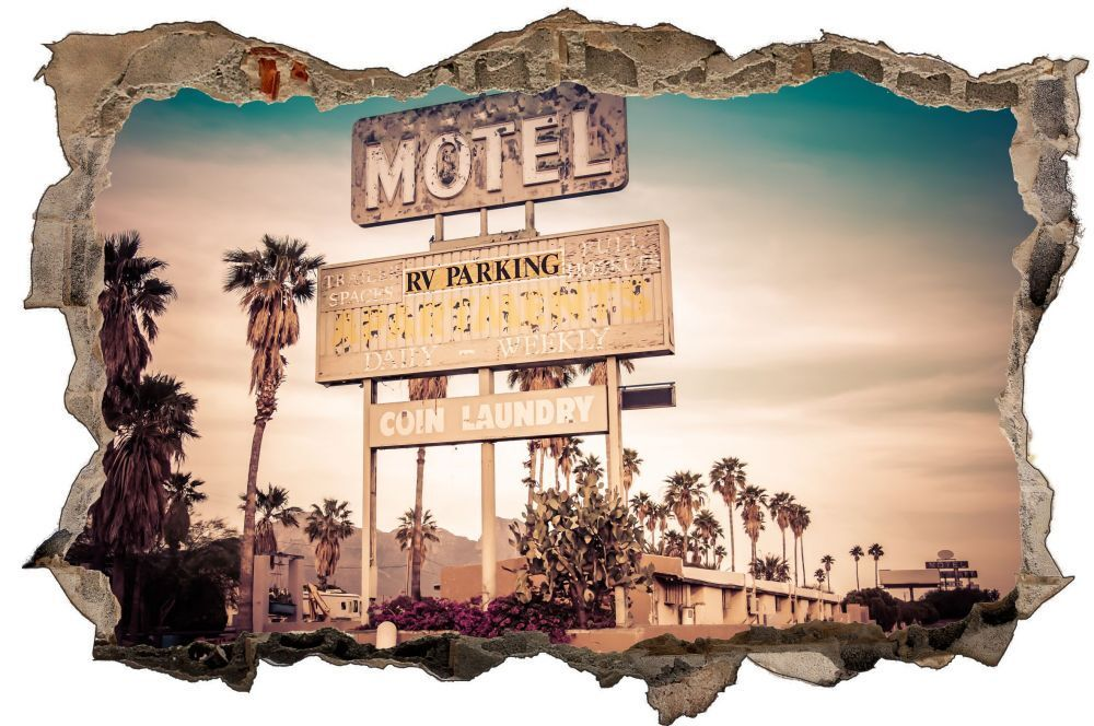 Motel USA SCUDO Hotel Highway Muro Tatuaggio Parete Adesivo Parete Adesivo d0635