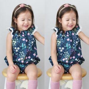 Newborn Infant Baby Girls Summer Romper Bodysuit Jumpsuit Sunsuit Clothes Outfit