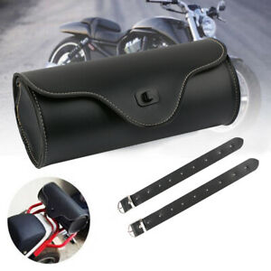 Universel-Sacoche-Sac-Outils-Moto-Trousse-Cote-PU-Cuir-Pour-Harley-Honda-Suzuki