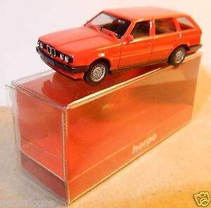 MICRO-HERPA-HO-1-87-BMW-325-I-TOURING-ROSSO-ACCESO-in-box