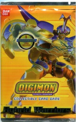 Digimon Hybrid Warriors Beetlemon Art Booster Pack New /& Sealed CCG