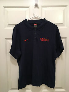 University of Virginia Cavaliers Womens Lacrosse Team Issued Nike Polo Shirt XL