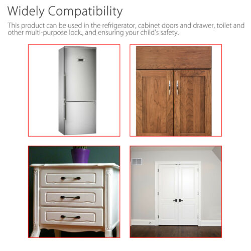 10 PCS Baby Child Kid Box Drawer Cupboard Cabinet Wardrobe Door Safe Safety Lock