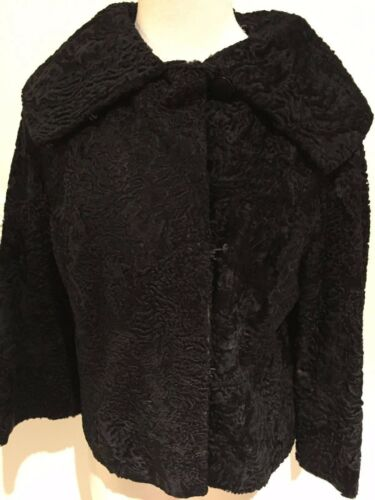 Fur Collared Medium Persian Fuldt Vintage Beklædt Black Frakke Lamb Jacket PqxtIUwC
