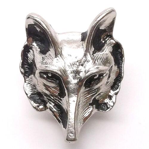 "Wolf Head Concho Snap Cap Nickel 1/"" 1265-64 by Stecksstore"