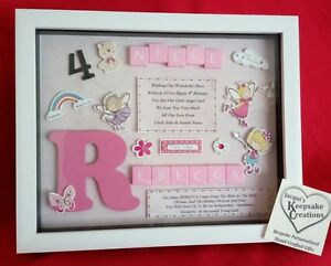 Image Is Loading NIECE BIRTHDAY GIFT PERSONALISED PICTURE FRAME KEEPSAKE SCRABBLE