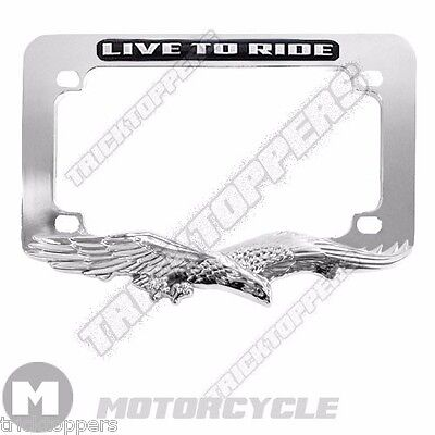 New Chrome 3d American Eagle Motorcycle License Plate