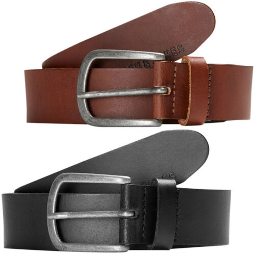 Jack /& Jones Originals Leather Belt Mens Metal Pin Buckle 4cm Wide Jacace