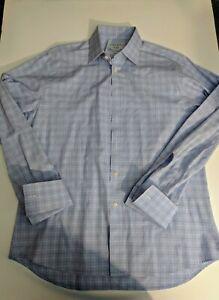 Charles-Tyrwhitt-16-35-Slim-Fit-Dress-Shirt-Blue-red-White-French-cuffs
