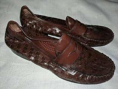 GH Bass & Co Brown Woven Penny Loafer Shoes 8.5 M Ladies ...