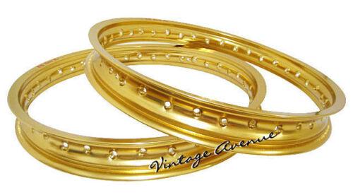 FRONT HONDA CR125M M0//M1///'76///'77///'78 ALUMINIUM REAR WHEEL RIM GOLD