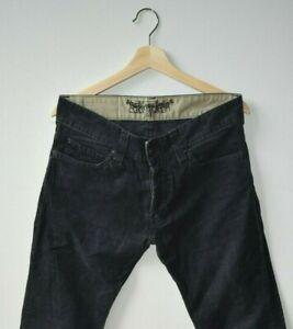 Hombre Levis Azul Marino Cordones De Pana Pantalones Pantalones Tamano 31w 34l Ebay