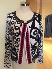 Olivier Philips Cardigan Size 14 BNWT Black White Pink Orange RRP £125 NOW £56