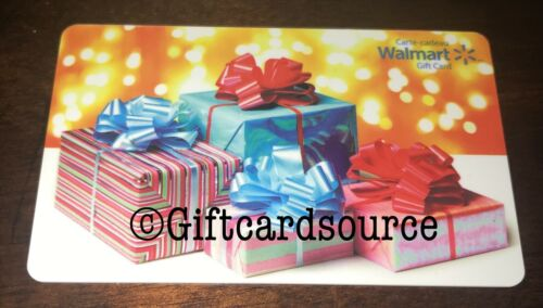 WALMART CHRISTMAS PRESENTS GIFT CARD CANADA COLLECTIBLE NO VALUE NEW