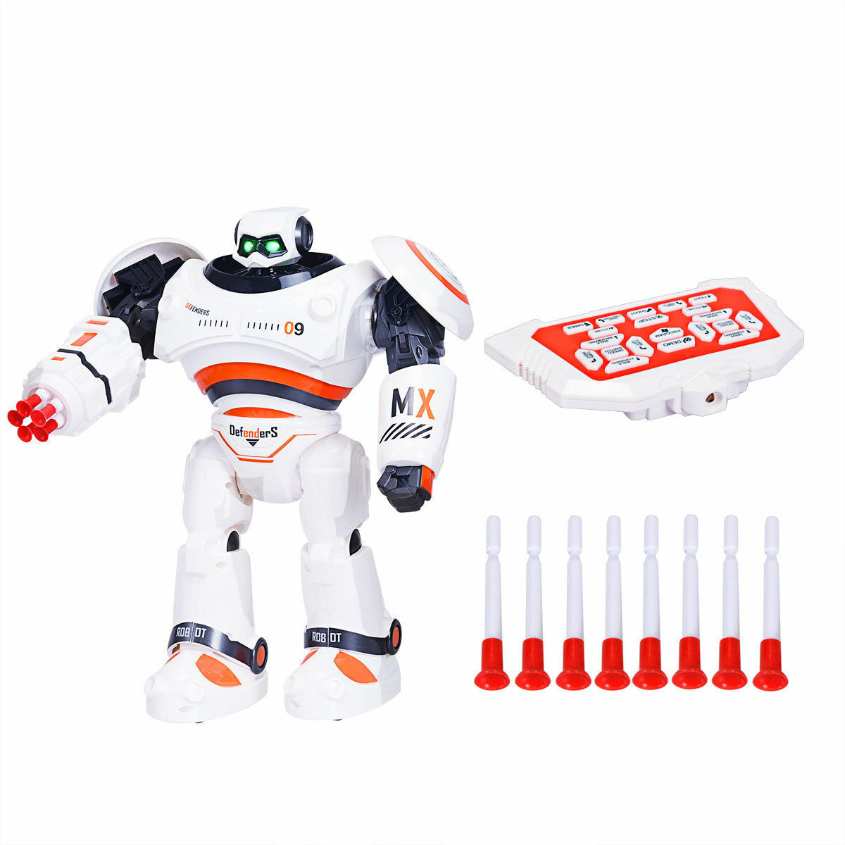 Intelligent Interactive Remote Control Programmable Robot Shooting LED Kids Toy