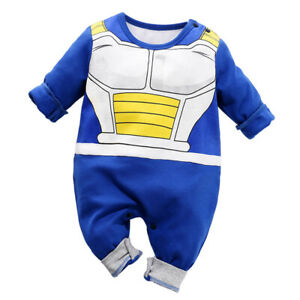 cde3bbc56e6b Newborn Baby Boy Dragon Ball Z Costume Romper Vegeta Outfit Infant ...