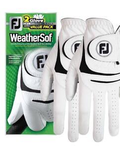 CréAtif Nouveau Footjoy Weathersof 2-pack Gants De Golf-value Pack-sélectionnez La Taille-afficher Le Titre D'origine Usines Et Mines