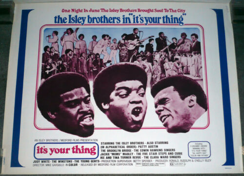 THE ISLEY BROTHERS/CLARA WARD SINGERS original 1971 movie poster IT'S YOUR THING