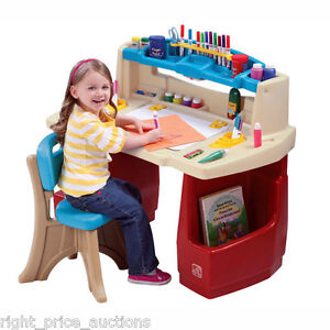 Step2 Deluxe Art Activity Table Desk Childrens Play Chair