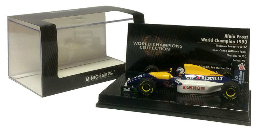 fantastica qualità Minichamps WILLIAMS RENAULT FW15C 1993 ALAIN PROST F1. World World World Champion 1 43 SCALA  elementi di novità