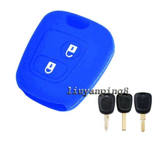 2 Button Silicone Case Cover For Peugeot 106 206 306 406 405 408 107 207 307 407