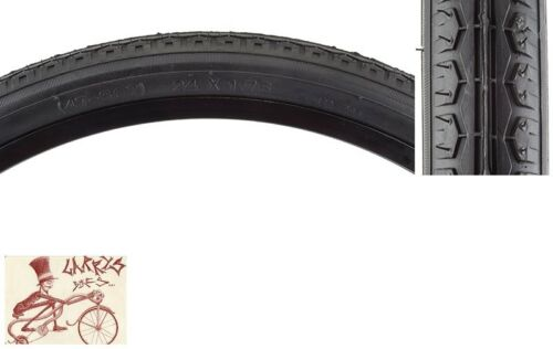 "SUNLITE STREET  24/"" x 1.75/""  BLACK BICYCLE TIRE W// FREE HEAVY DUTY TUBE"