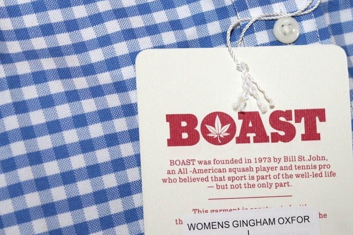 Boast - XS - - - Nuova con Etichetta - Blu Motivo a Quadretti Plaid Stampa L S e90110