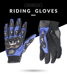 Pro-Biker Motorcycle Carbon Fiber Dirt Bike Racing Protective Full Gloves Black