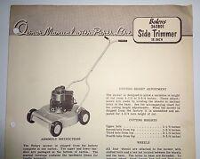 Bolens 363B01 Side Trimmer Mower Operators Owners Parts List Manual Original!