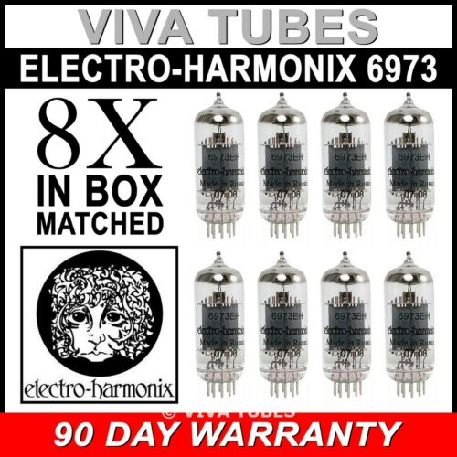 8 6973  Electro-Harmonix Vacuum Tubes Brand New In Box Current Matched Octet