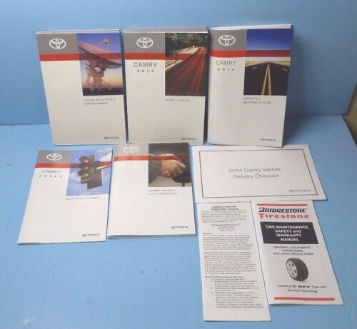 14 14.5 2014 2014.5 Toyota Camry owners manual with Navigation