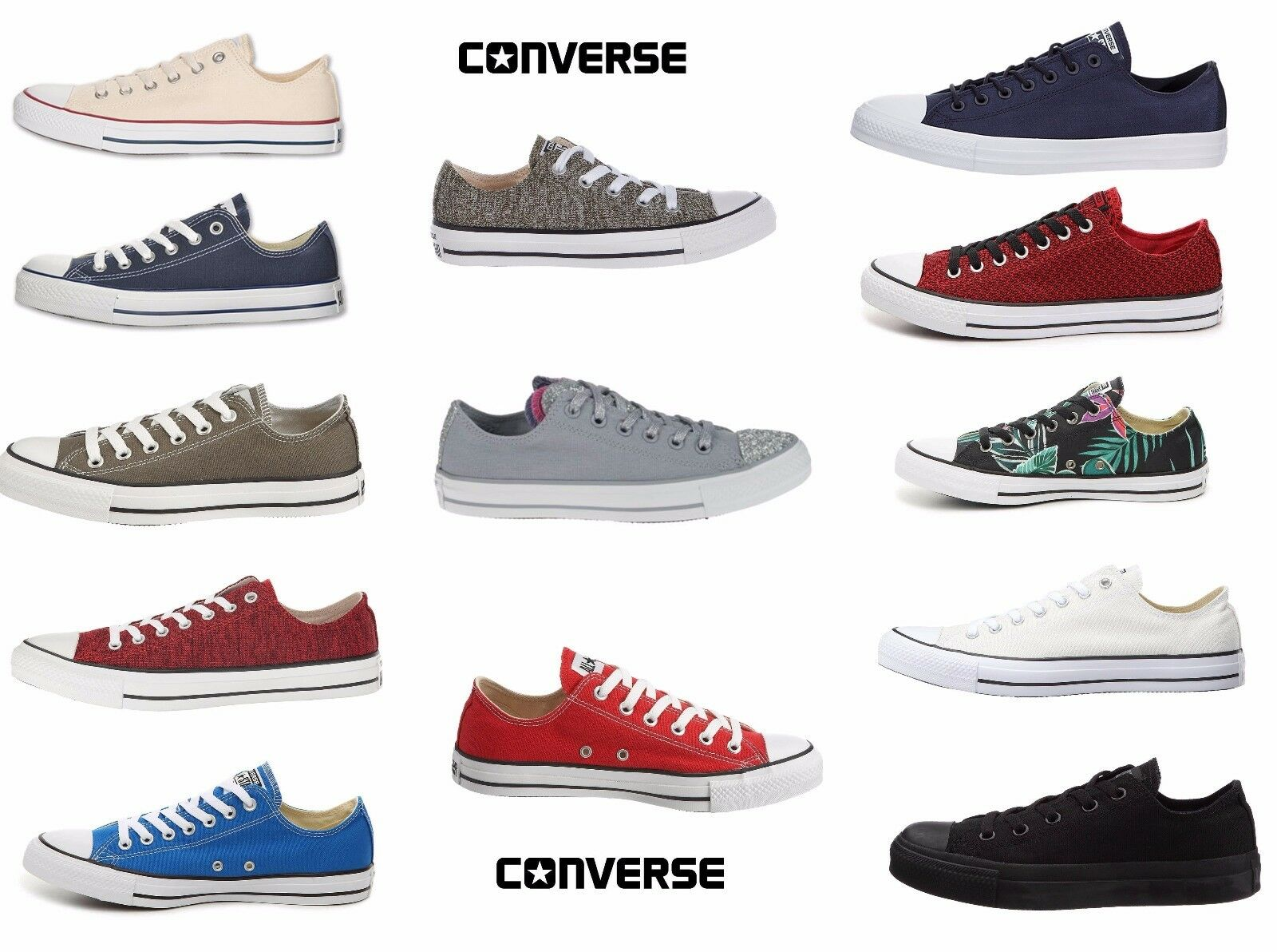 separation shoes 2ae27 fcbd1 CONVERSE Homme Femme UNISEX ALL ALL ALL STAR Casual Low Top Sneakers  Chaussures NEW f664c1