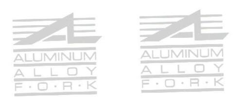 Aluminum Road Fork Decals for Cannondale