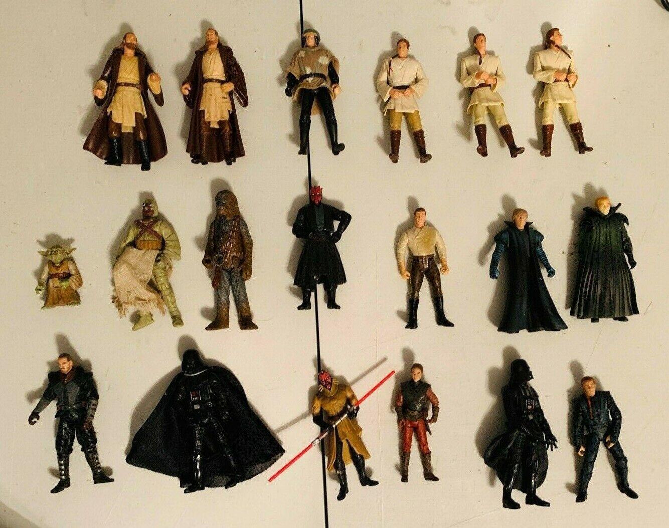 1998 2001  Hasbro Star Wars figurines variété lot de 19  100% livraison gratuite