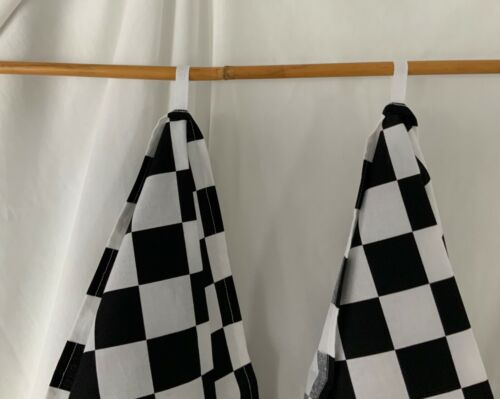"""Details about  /NEW Handmade 100/% COTTON KITCHEN DISH CLOTH TOWELS SET of 2 Two 34/""""X20/"""" CHECKERS"""