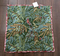 Pottery Barn Quetzal Bird Euro Sham 24 Tropical Bird Pillow Sham Small Euro
