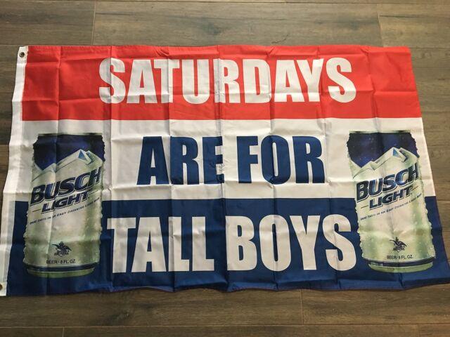 Busch Light Beer Saturdays Are For Boys Tall Boys 3x5 Ft Flag #SAFTB US  SELLER