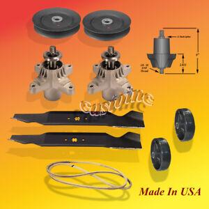 Deck-Kit-Blade-Spindle-Belt-For-MTD-742-0610-942-0610-amp-942-0610A-38-034-Cut