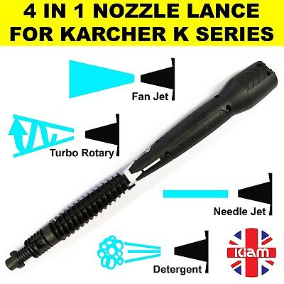 SOAP FAN NEEDLE JETS KARCHER K3 VARIABLE NOZZLE LANCE WITH TURBO 4 IN 1