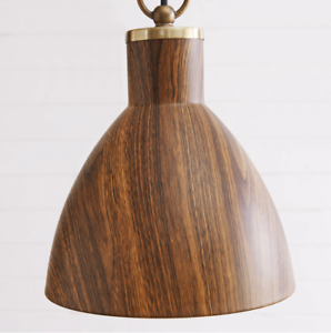 Details About Mid Century Modern Wood Grain Style Ceiling Pendant Retro Hanging Light Fixture