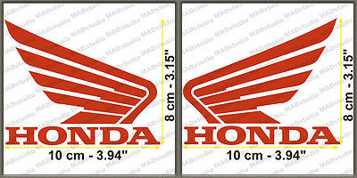 L/&R WOODY FLAME RACING CHECKER FLAG HONDA WING DECAL STICKER DIE-CUT 2PC