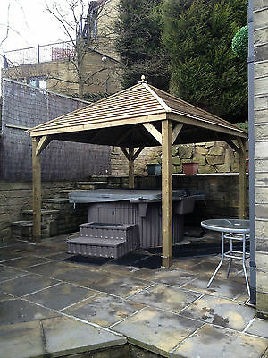 4M Wooden Gazebo / Spa / Hot Tub Enclosure - Delivered and Hand-Built